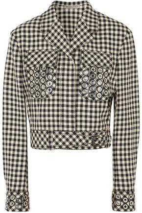 ボッテガ ヴェネタ 装飾付き ギンガム コットン&ウール混 ジャケット