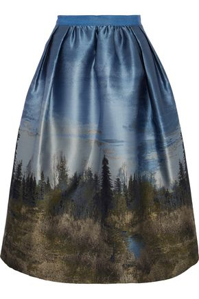GOEN.J Metallic jacquard skirt
