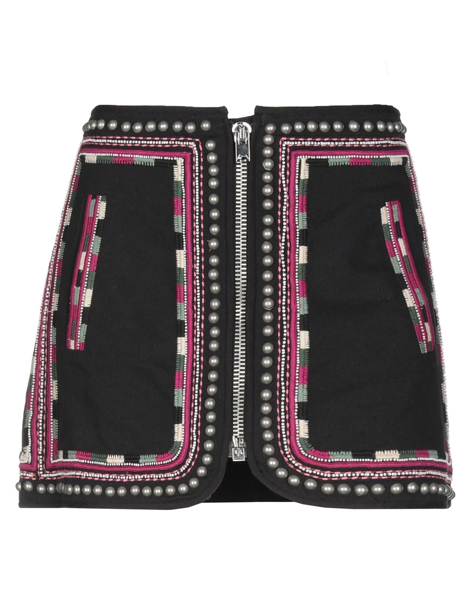《期間限定セール中》ISABEL MARANT レディース デニムスカート ブラック 36 コットン 100%