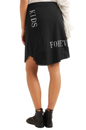 ANN DEMEULEMEESTER Alexis printed cotton-gauze wrap skirt