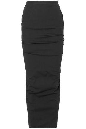 RICK OWENS Cotton-blend poplin maxi pencil skirt