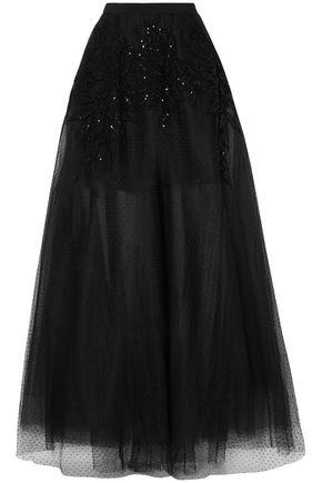 ELIE SAAB Embellished point d'esprit maxi skirt