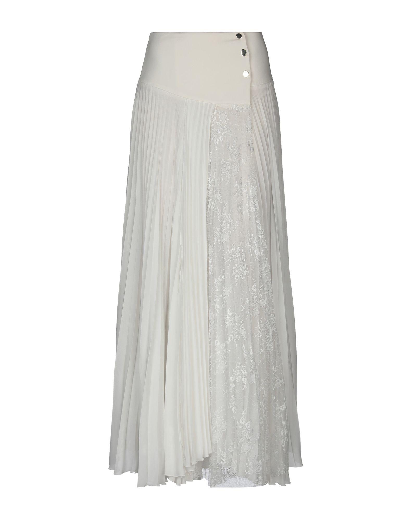 《セール開催中》BABYLON レディース ロングスカート ホワイト 44 ポリエステル 100% / ナイロン