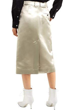 d4f81864b7 Satin midi skirt | CALVIN KLEIN 205W39NYC | Sale up to 70% off | THE ...