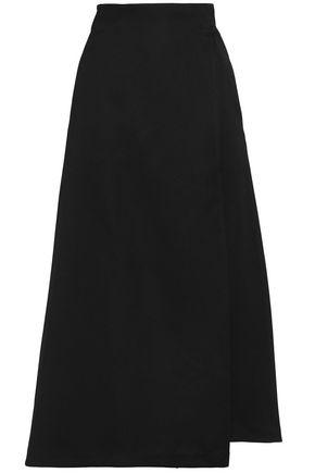 AMANDA WAKELEY Duchesse-satin midi wrap skirt