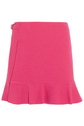 BOUTIQUE MOSCHINO Wrap-effect crepe mini skirt