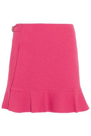 BOUTIQUE MOSCHINO Wrap-effect crepe mini skirt