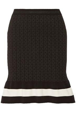 BOUTIQUE MOSCHINO Metallic jacquard-knit mini skirt