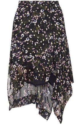 ISABEL MARANT Myles floral-print fil coupé silk-blend georgette skirt