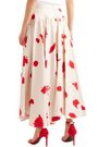 CALVIN KLEIN 205W39NYC Gathered printed silk maxi skirt