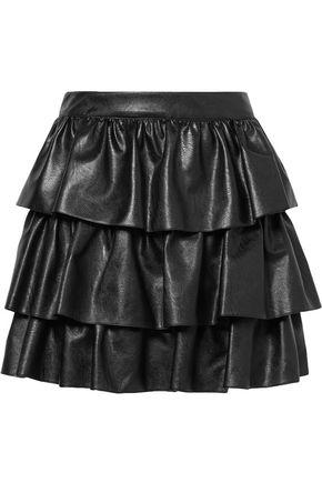 STELLA McCARTNEY Anika tiered faux leather mini skirt