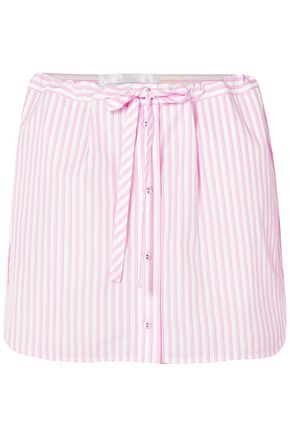 VICTORIA, VICTORIA BECKHAM Striped cotton-poplin shorts