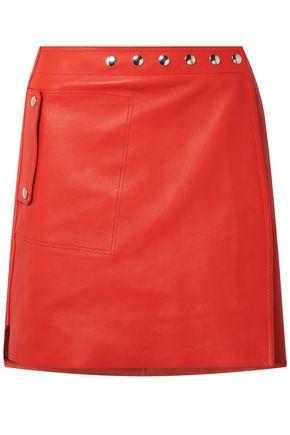 ACNE STUDIOS Studded leather mini wrap skirt