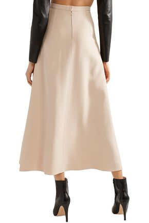 TRE by NATALIE RATABESI Lace-up crepe midi skirt
