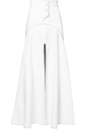ELLERY Split-front cotton-blend gabardine maxi skirt