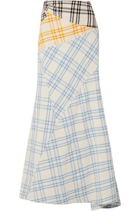 ROSIE ASSOULIN Checked cotton maxi skirt