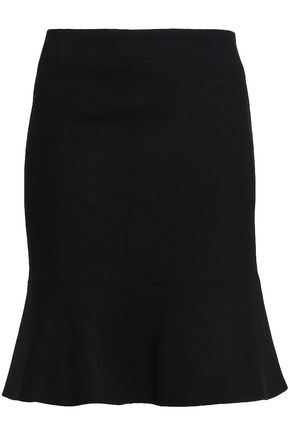 BA&SH Fluted crepe mini skirt