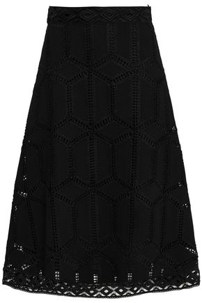 BA&SH Guipure lace midi skirt