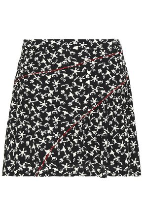 BA&SH Jupe floral-print crepe mini skirt