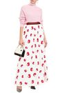 Tina Sequin Embellished Satin Crepe Maxi Skirt by Alice + Olivia