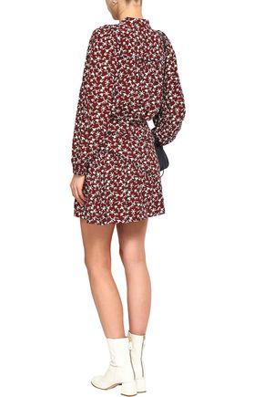 BA&SH Jupe floral-print crepe mini skirt