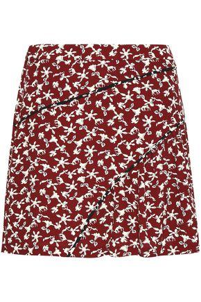 BA&SH フローラルプリント クレープ ミニスカート