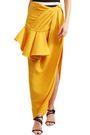 JACQUEMUS La Jupe Sol asymmetric ruffled canvas maxi skirt