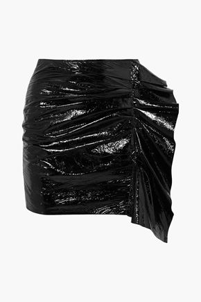 ISABEL MARANT Cracked patent-leather mini skirt