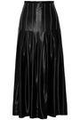 BEAUFILLE Pleated satin-crepe midi skirt