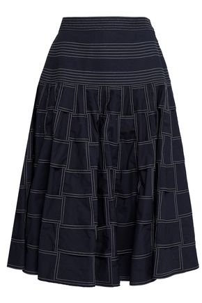 THOM BROWNE Flared cotton skirt