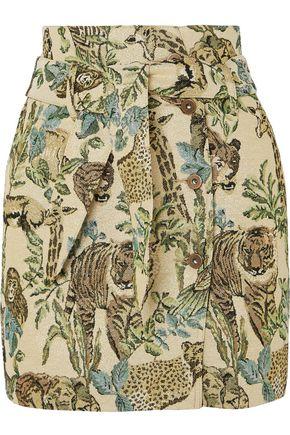 NANUSHKA Printed jacquard mini skirt
