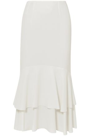 GIAMBATTISTA VALLI Ruffled crepe midi skirt