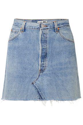 RE/DONE + Levi's distressed denim mini skirt