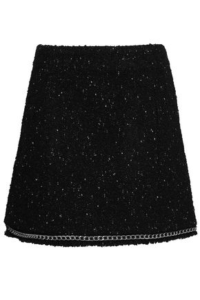 MICHAEL MICHAEL KORS Chain-trimmed bouclé-tweed mini skirt