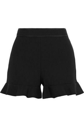 REDValentino Ruffle-trimmed cady shorts