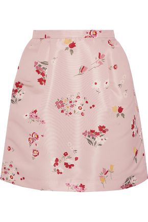 3c80532045 REDValentino Pleated floral-print faille mini skirt