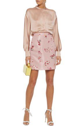 9f2c9c8fdfc REDValentino Pleated floral-print faille mini skirt