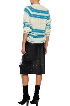 ALEXACHUNG Studded leather skirt