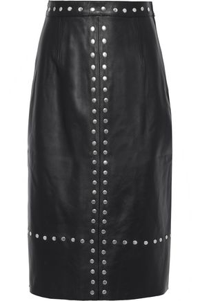 ALEXACHUNG Studded leather skirt