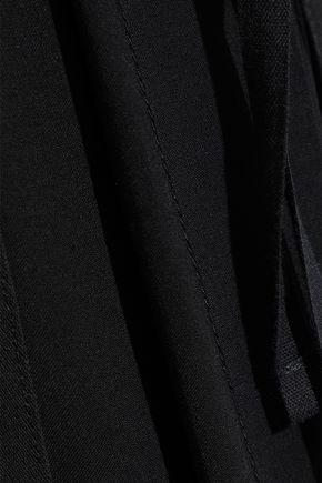 ANN DEMEULEMEESTER Jersey-paneled twill maxi skirt