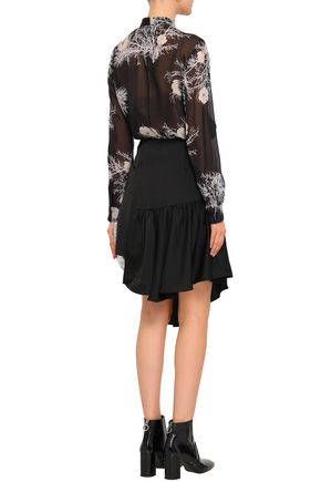 PAPER London Asymmetric Prince of Wales checked wool-blend mini skirt