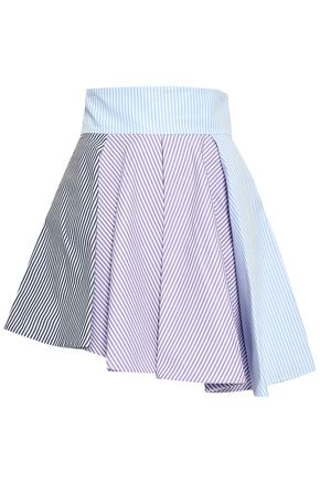 PETERSYN Tinsley striped cotton-poplin mini skirt
