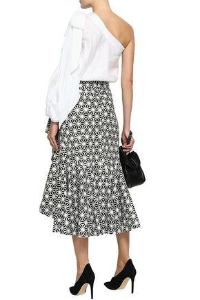 PETERSYN Vanessa printed cotton-poplin midi skirt