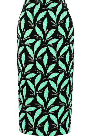 DIANE VON FURSTENBERG Printed woven midi pencil skirt