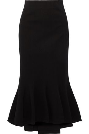 TOME Flared ponte midi skirt