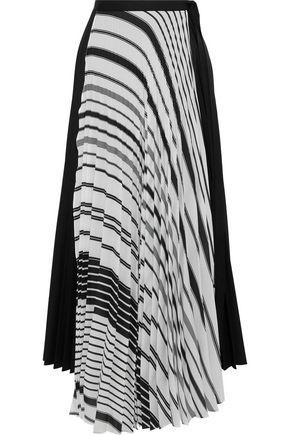 TOME Plissé printed poplin maxi wrap skirt