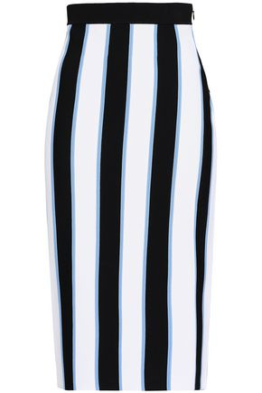 CAROLINA HERRERA Striped knitted pencil skirt
