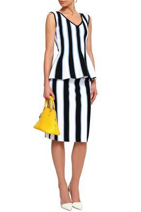 CAROLINA HERRERA Striped knitted pencil skirt