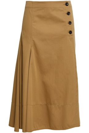 JOSEPH Cotton-twill midi skirt