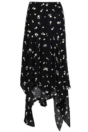 PAPER London Asymmetric crepe skirt